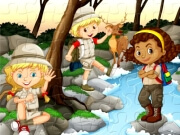 Play Camping Kids Jigsaw