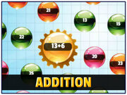 Play Orbiting Numbers Addition