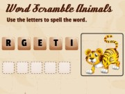Play Word Scramble Animals